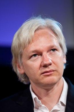 Julian Assange , editor in chief of WikiLeaks, attends the Hay Festival on June 4, 2011 in Hay-on-Wye, Wales.