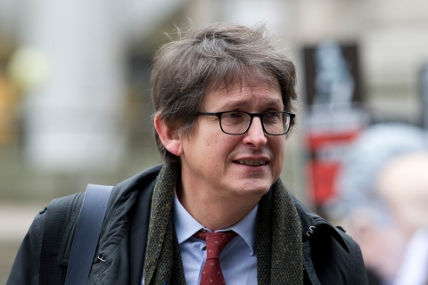 Guardian editor-in-chief, Alan Rusbridger, arrives to attend the publication of the Leveson Report into press ethics in central London on November 29, 2012.