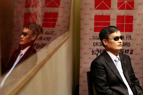 Chinese dissident Chen Guangcheng in Taipei