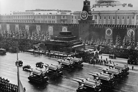 Red Square Marks Anniversary Of Bolshevik Revolution
