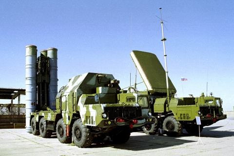 A Russian S-300 anti-aircraft missile system in an undisclosed location in Russia.