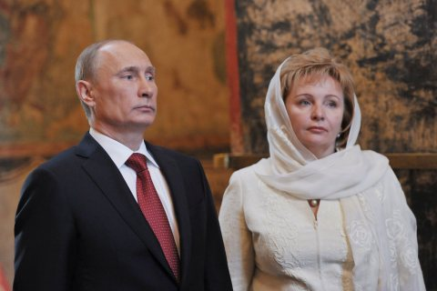 From left: Vladimir Putin and wife Lyudmila attend a service at the Kremlin in Moscow, on May 7, 2012.