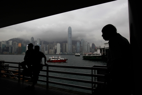 The waterfront in Kowloon peninsula, opposite Hong Kong island, on June 11, 2013.