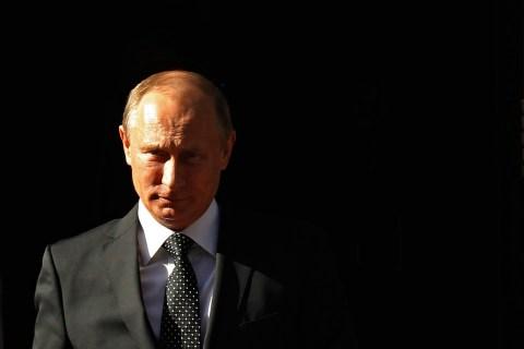 Russia's President Vladimir Putin leaves Downing Street, in London, on June 16, 2013.