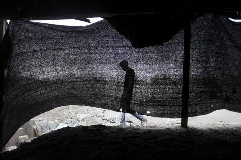 Smuggling tunnels between Gaza Strip and Egypt