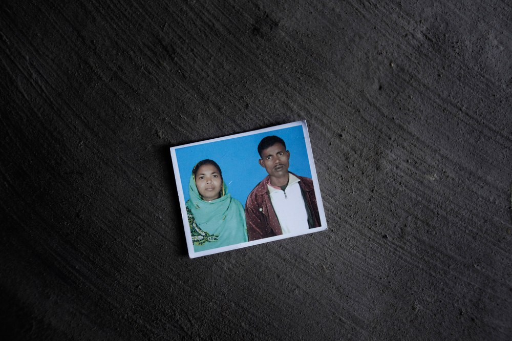 Rehana Parveen and her husband, Jahedul, have two sons. She worked at New Wave Style Garments and is one of hundreds of workers still missing since the Rana Plaza collapse.