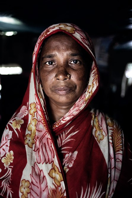 Missing workers Rehana's Mother at Joypurhat district. Rana Plaza, the 8- stored building where 5 garment factory were running, has collapsed on 24th April 2013 and 1131 workers dead so far. Panch bibi, Joypur Hat, Bangladesh. 2nd June 2013