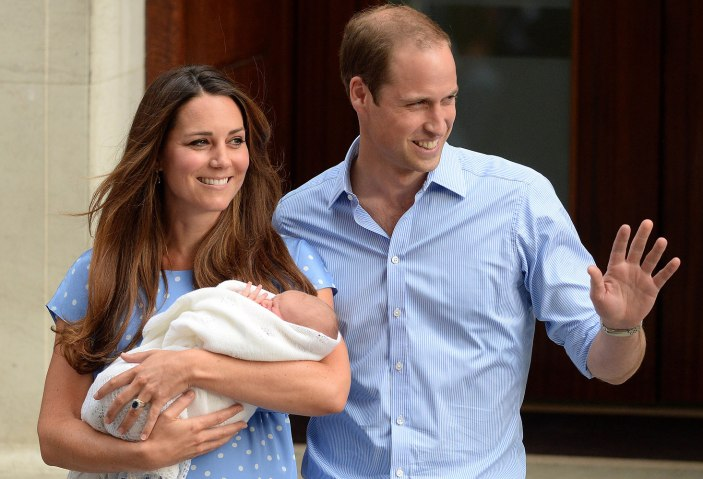Duke and Duchess of Cambridge with their new baby boy