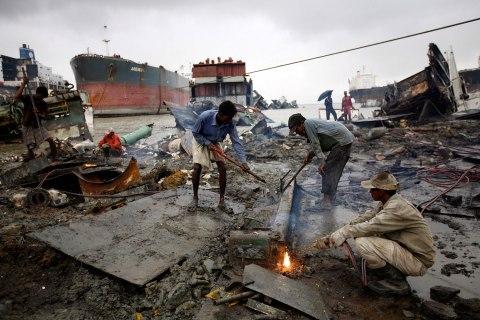 ship-breaking yard in Chittagong.