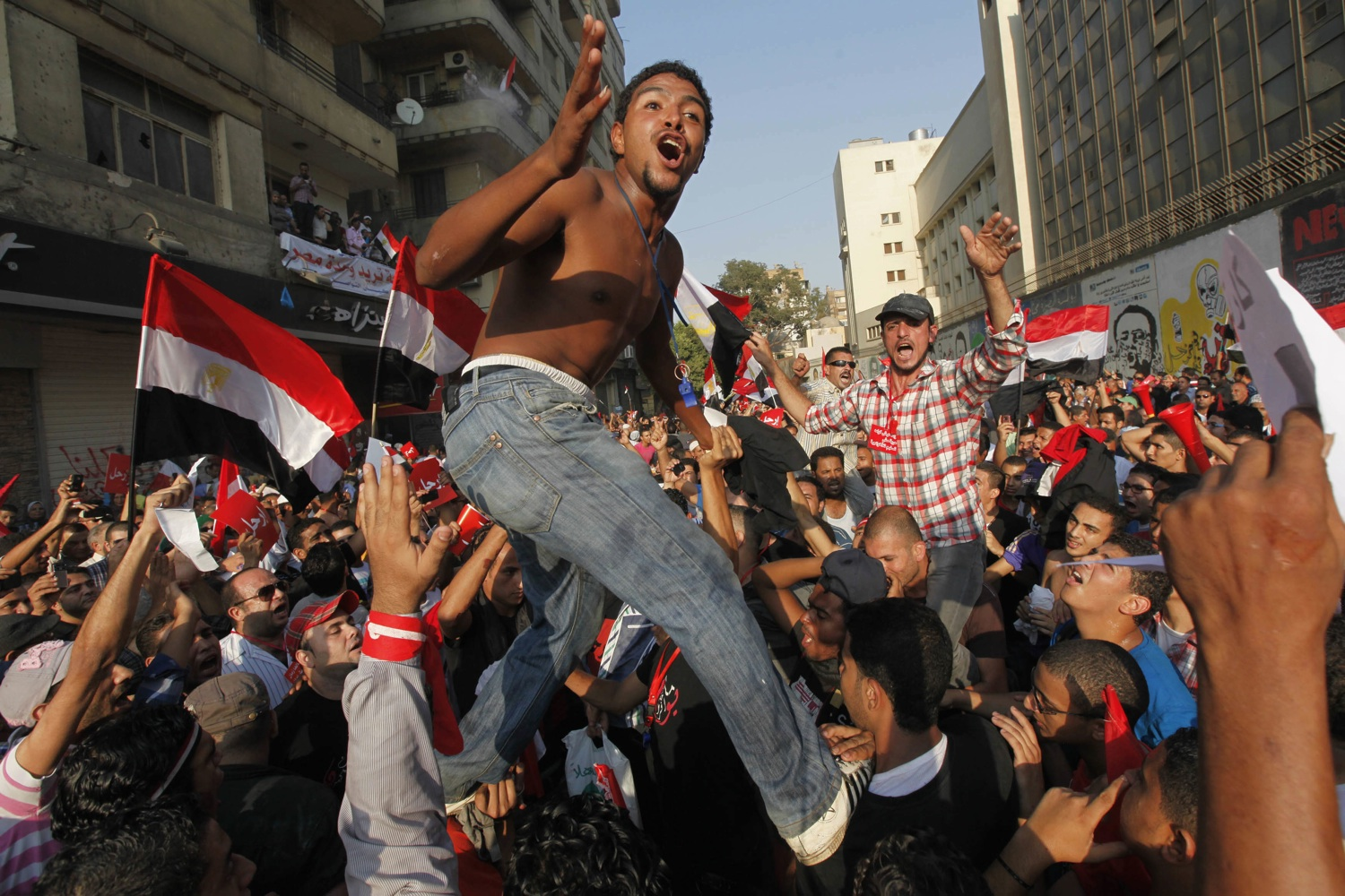 Protesters, who are against Egyptian President Mohamed Mursi, gather in Tahrir Square in Cairo