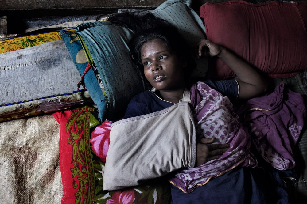 Shahanaj fractured her hand in the Rana Plaza collapse.