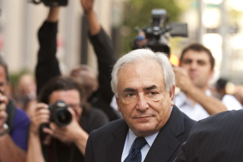 Dominique Strauss-Kahn arrives at Supreme Court in New York City, on June 6, 2011.