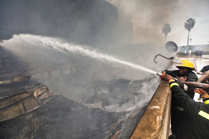 Huge blaze at Nairobi airport