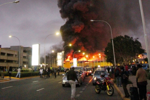 CORRECTION Kenya Airport Fire
