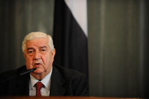 Syrian Foreign Minister Walid al-Moualem