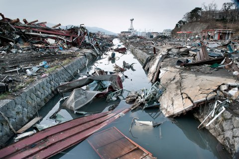 Japan post-earthquake tsunami