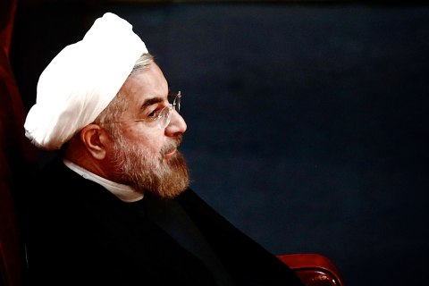 Iranian President Hassan Rowhani attends a session of the Assembly of Experts in Tehran, Sept. 3, 2013.