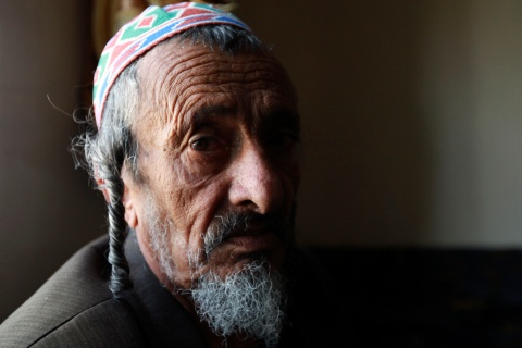 Chief rabbi of the Jews in Yemen Yosef Mosa sits in his home in Sanaa
