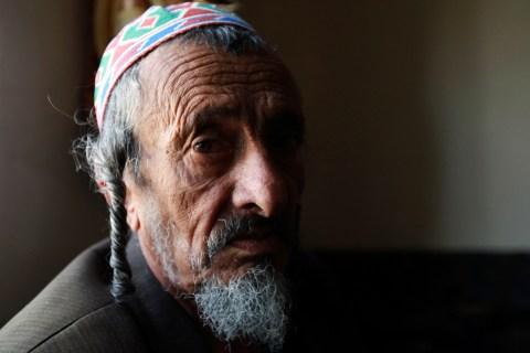 Chief rabbi of the Jews in Yemen Yosef Mosa sits in his home in Sanaa