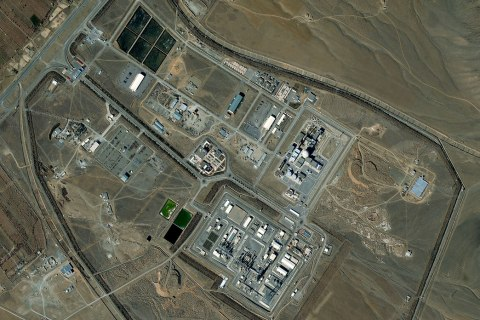 Satellite image of the Arak Nuclear Reactor in Iran collected on Feb. 9, 2013.