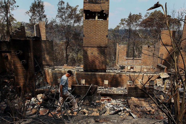 One Man Dead And Hundreds Of Homes Lost As Bushfires Ravage New South Wales