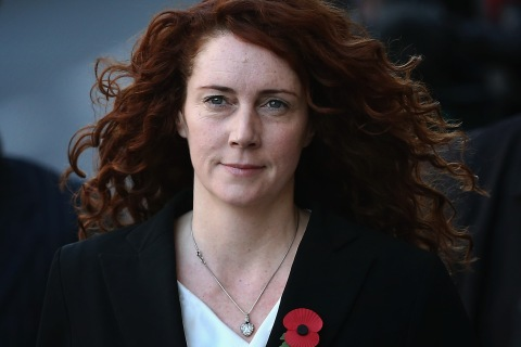 Former News International chief executive Rebekah Brooks arrives at the Old Bailey for the phone-hacking conspiracy trial on Oct. 30, 2013 in London.