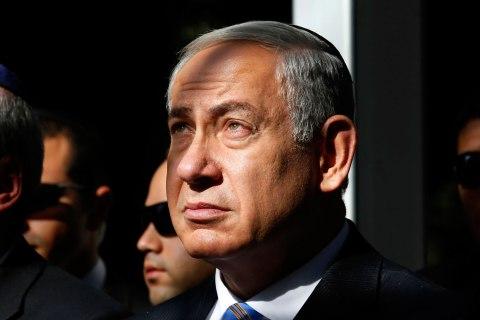 Israeli Prime Minister Benjamin Netanyahu attends a ceremony for late Israeli prime minister Yitzhak Rabin at the Mount Herzl cemetery in Jerusalem