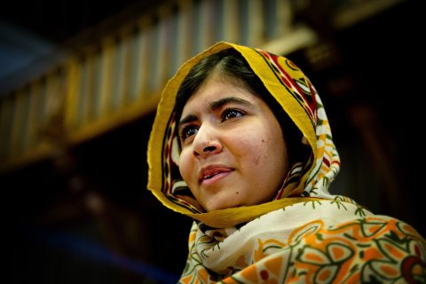 Malala Yousafzai speaks after winning this year's International Children's Peace Prize at The Hague, on Sept. 6, 2013.