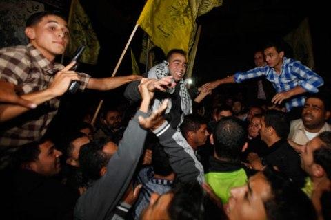 Released Palestinian prisoner Hazem Shobair