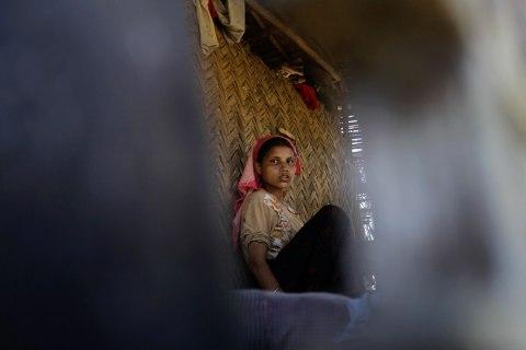 Muslim woman in Arakan State