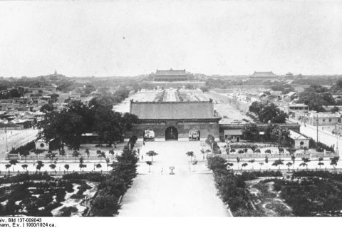 Tiananmen Square in 1900