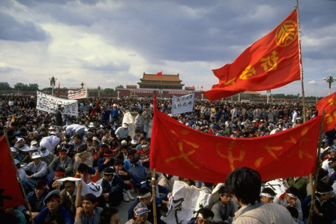 student-led pro-democracy uprising in Tiananmen Square