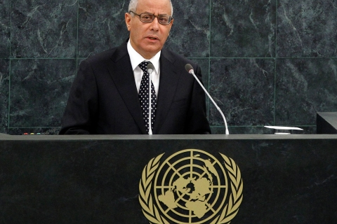 Ali Zeidan, Prime Minister of Libya, addresses the 68th United Nations General Assembly at UN headquarters in New York