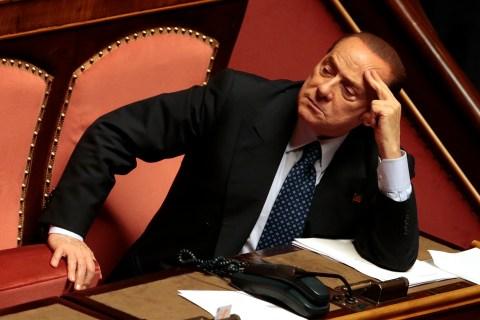 Italian center-right leader Silvio Berlusconi at the Senate in Rome, on Oct. 2, 2013.