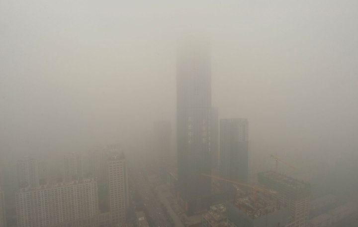 The 75-storey high landmark skyscraper of Shenyang is seen during a smoggy day in Liaoning province