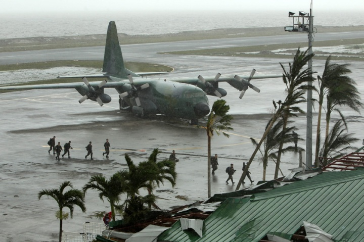 Haiyan was packing maximum sustained winds of 275 kilometres per hour (kph) and gusts of up to 250 kph as it neared the Philippines, the weather bureau said.