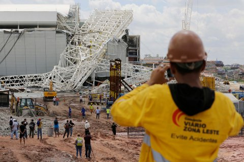 Brazil Stadium Collapse