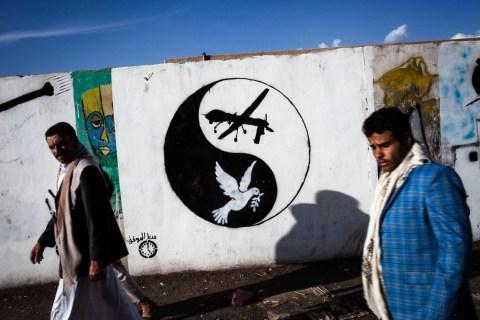 Drone art Yemen