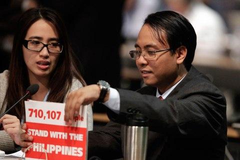 Philippine Climate Commissioner Naderev Sano