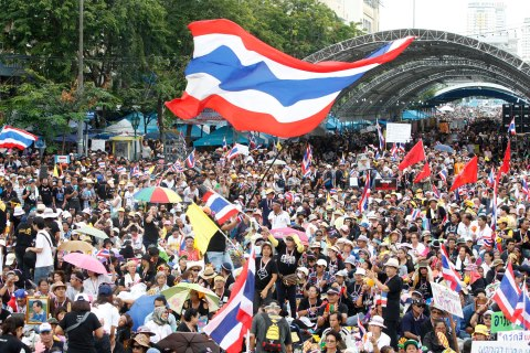 Anti-government protesters in Bangkok