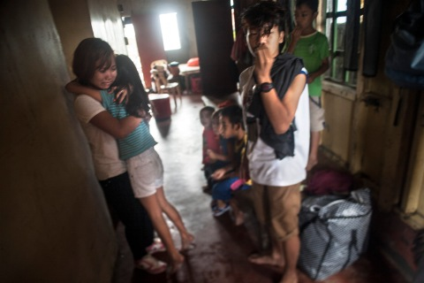 Girlyn Antillon is reunited with her family.