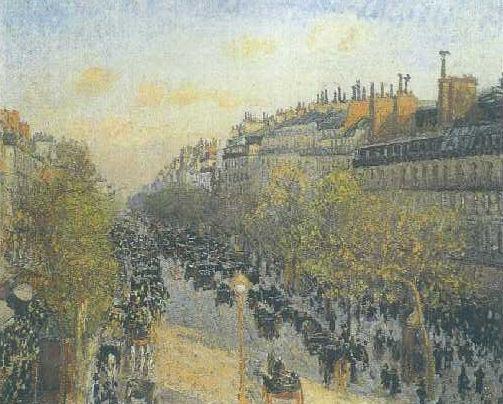 Pissarro-The Boulevard Monmartre, Twilight