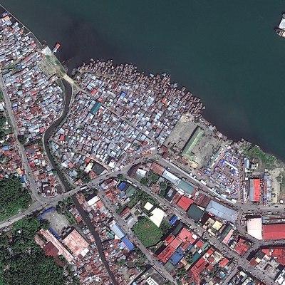 Satellite Image of Tacloban City, Philippines