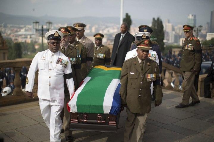 Former South African President Nelson Mandela memorial