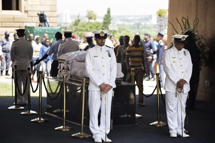 Late South African president Nelson Mandela death memorial