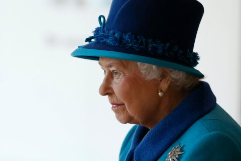 Britain's Queen Elizabeth tours the new headquarters of the Co-operative group in Manchester, northern England