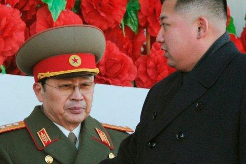 File photo shows North Korean leader Kim Jong-un, with his uncle Jang Song-thaek in Pyongyang