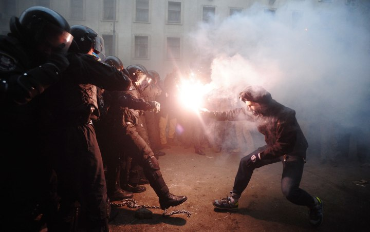 Violent Police Crackdown on Pro-Europe Protesters in Kiev