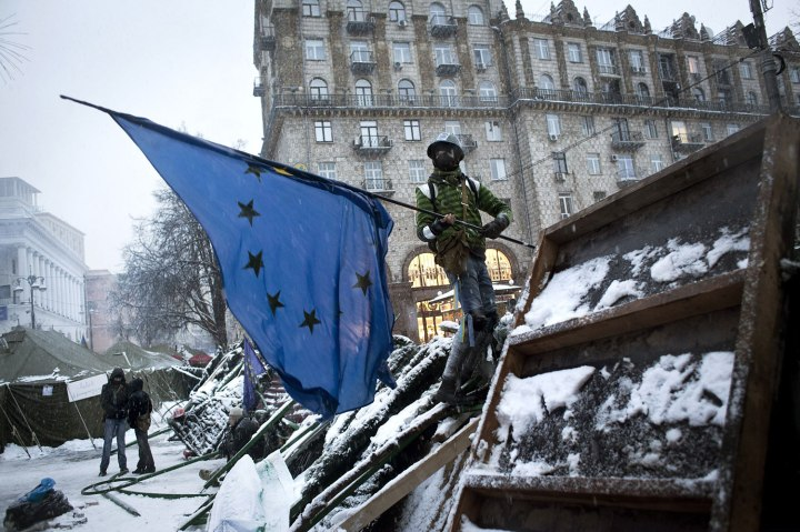 BESTPIX Thousands Protest In Kiev As They Call On Government Leaders To Resign