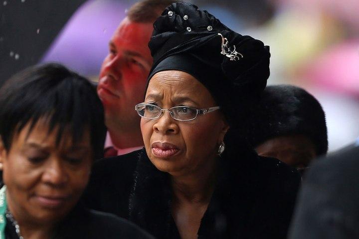 Graca Machel arrives for national memorial service for Mandela in Johannesburg
